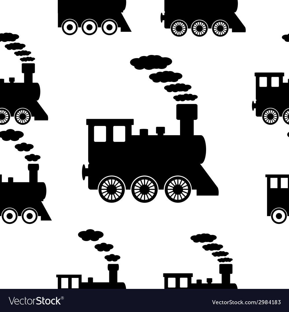 Locomotive seamless pattern vector | Price: 1 Credit (USD $1)
