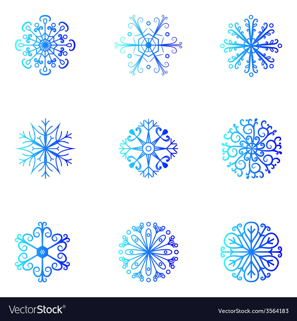 Snowflakes christmas and new year design element vector   Price: 1 Credit (USD $1)
