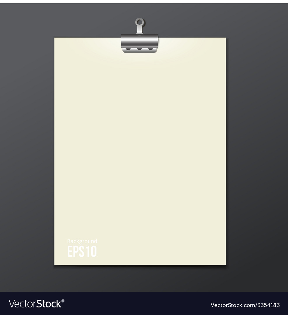 Template of white paper clip with a gray vector | Price: 1 Credit (USD $1)
