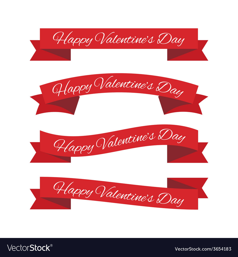 Valentines day ribbons vector   Price: 1 Credit (USD $1)