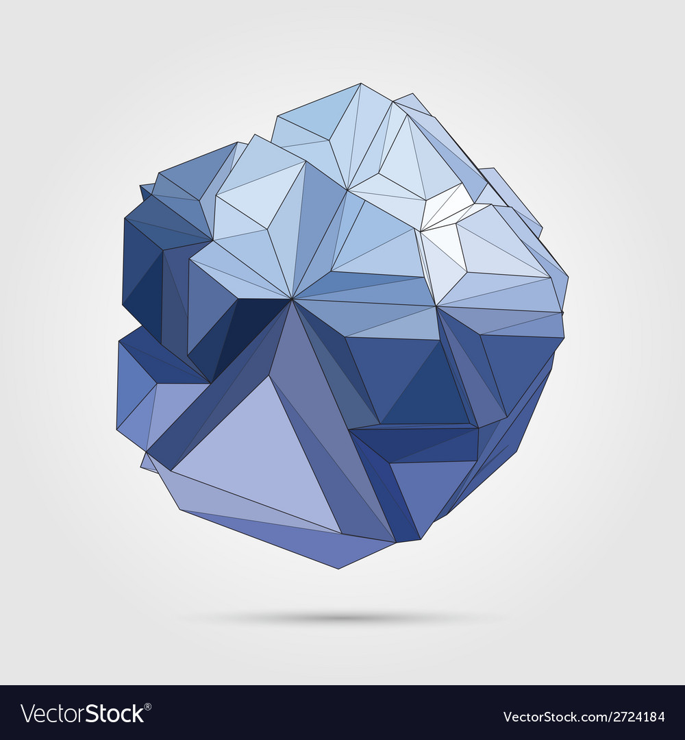 Abstract 3d geometric vector   Price: 1 Credit (USD $1)