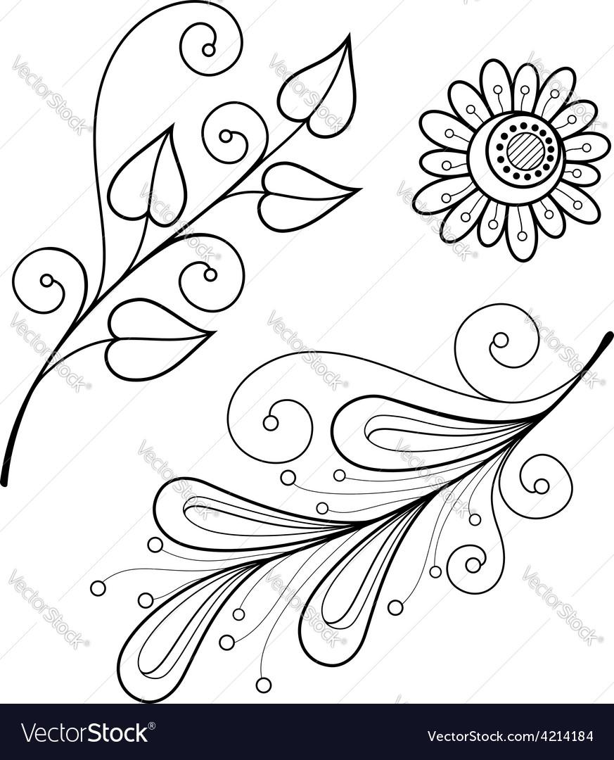 Artistic flower design vector | Price: 1 Credit (USD $1)