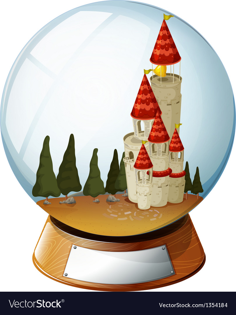 Castle crystal ball vector | Price: 1 Credit (USD $1)