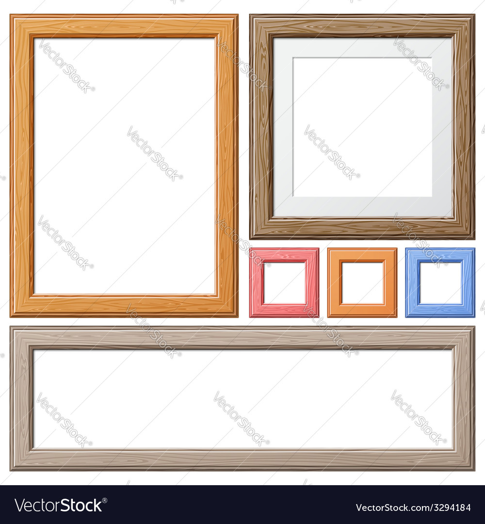 Collect wooden frames vector | Price: 1 Credit (USD $1)