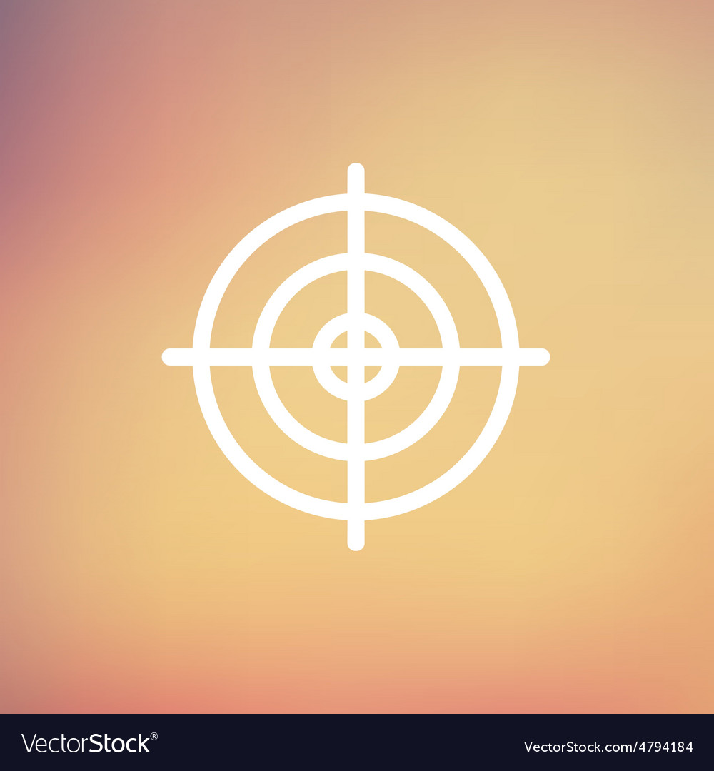 Crosshair target thin line icon vector | Price: 1 Credit (USD $1)