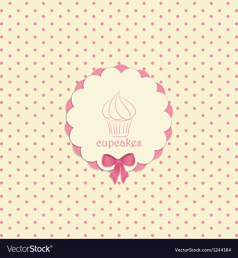 Cupcake label vector | Price: 1 Credit (USD $1)