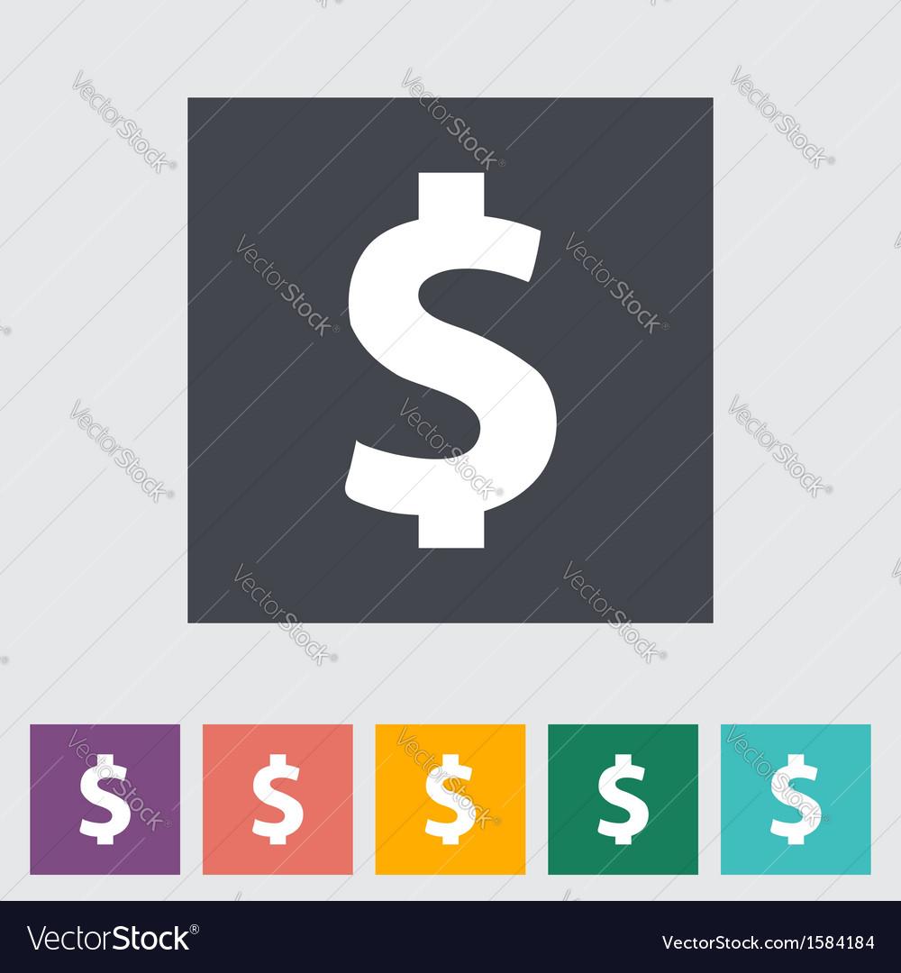 Dollar sing vector | Price: 1 Credit (USD $1)