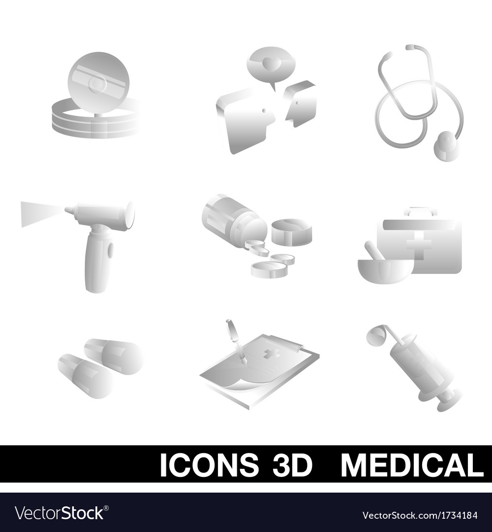 Icon set medical 3d vector | Price: 1 Credit (USD $1)