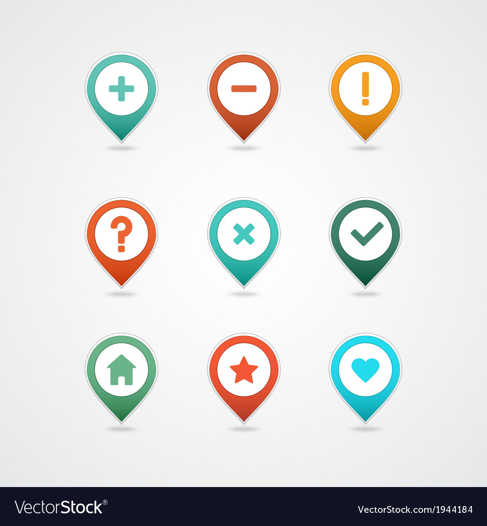 Mapping pins icon vector   Price: 1 Credit (USD $1)