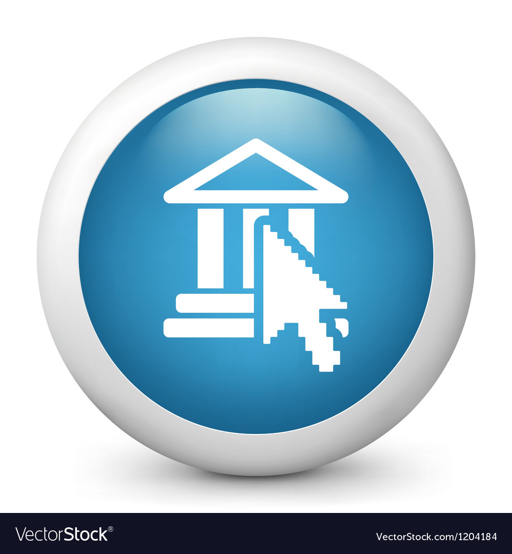 Online banking glossy icon vector   Price: 1 Credit (USD $1)