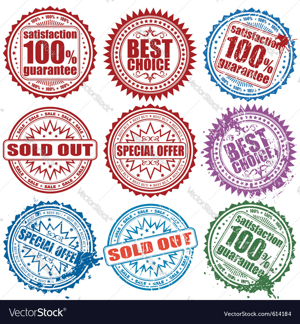 Retail stamps vector | Price: 1 Credit (USD $1)