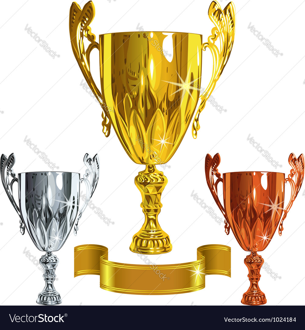 Set winning success gold silver bronze cu vector | Price: 3 Credit (USD $3)