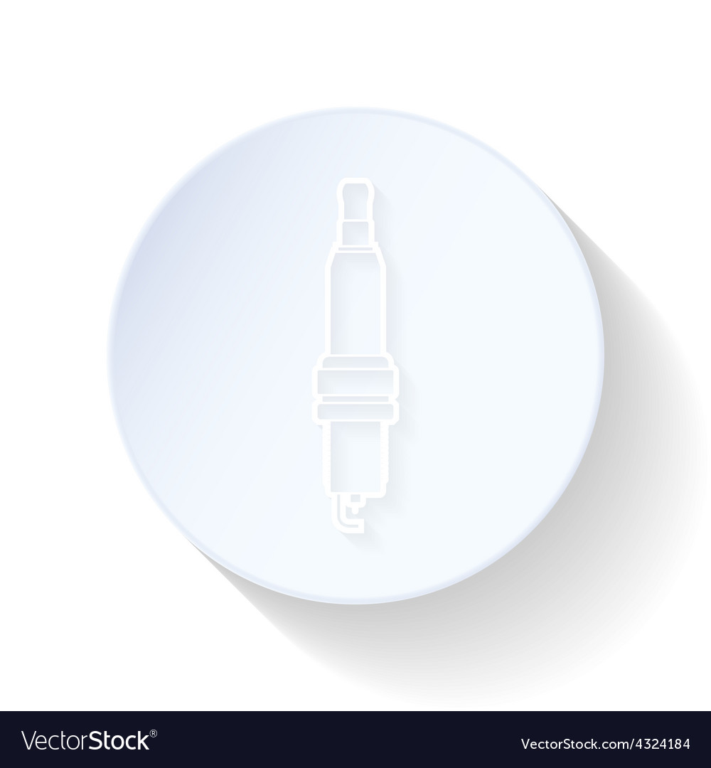 Spark-plug thin lines icon vector | Price: 1 Credit (USD $1)