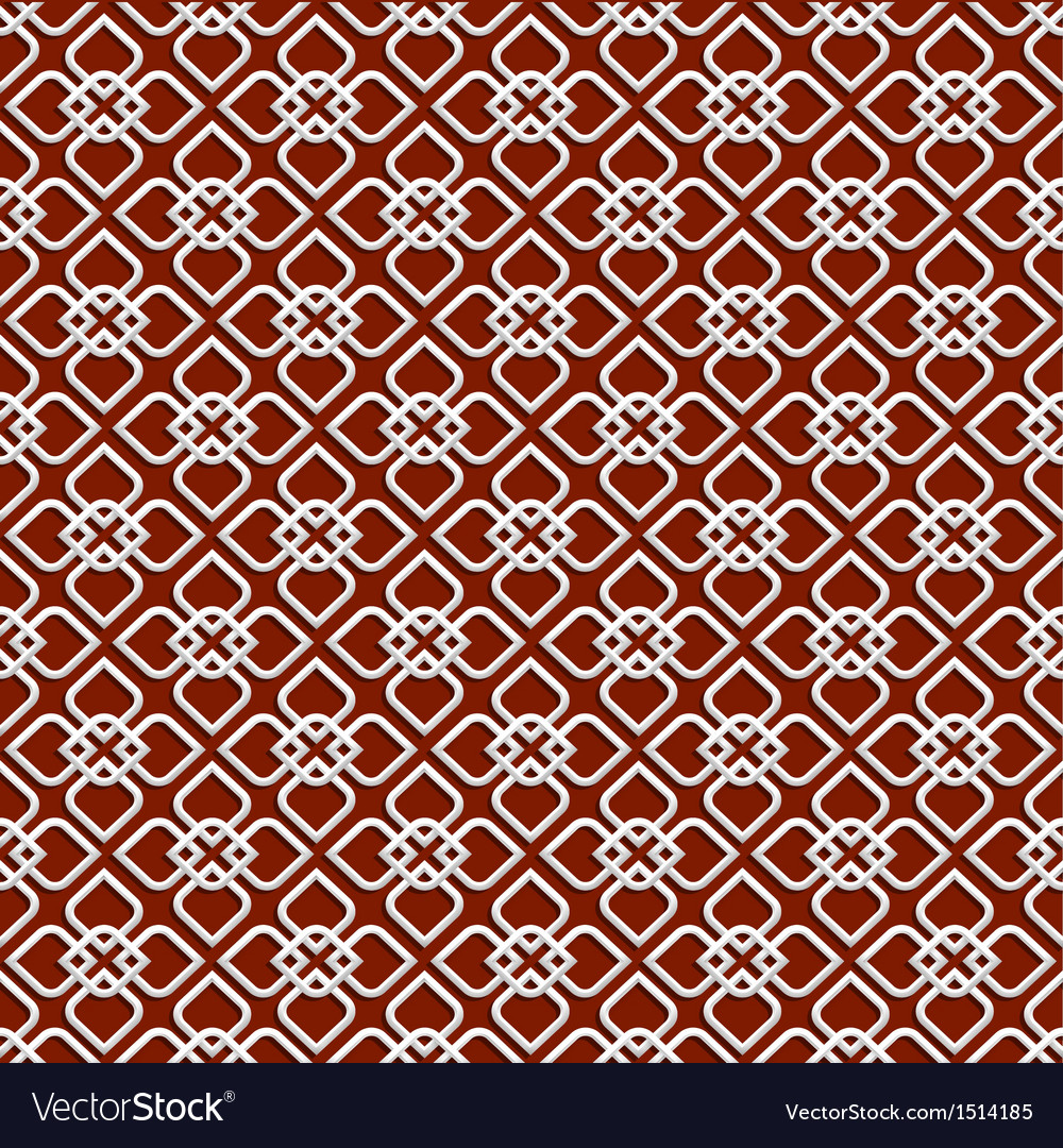 3d white pattern in islamic style vector | Price: 1 Credit (USD $1)