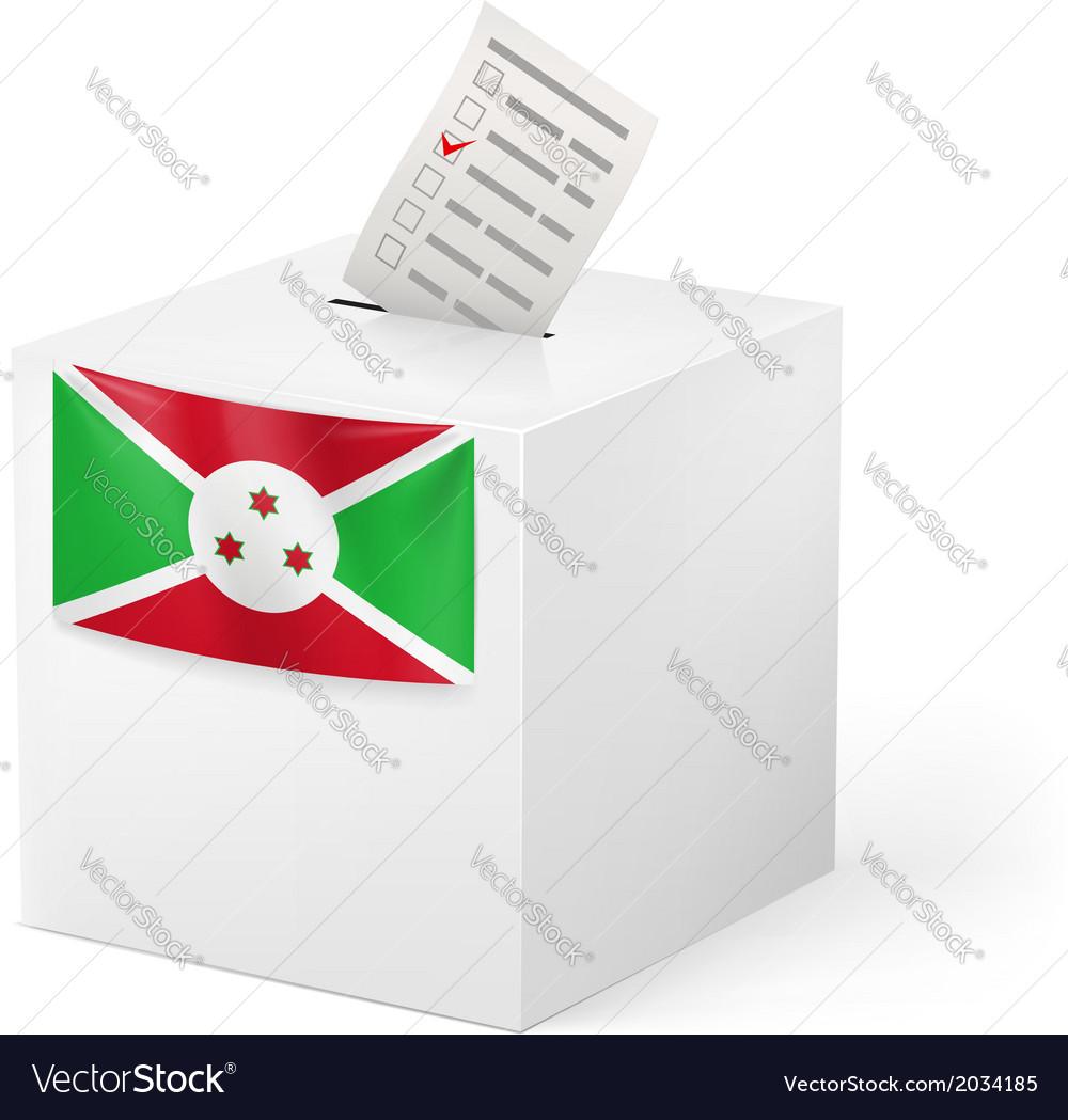 Ballot box with voting paper burundi vector | Price: 1 Credit (USD $1)