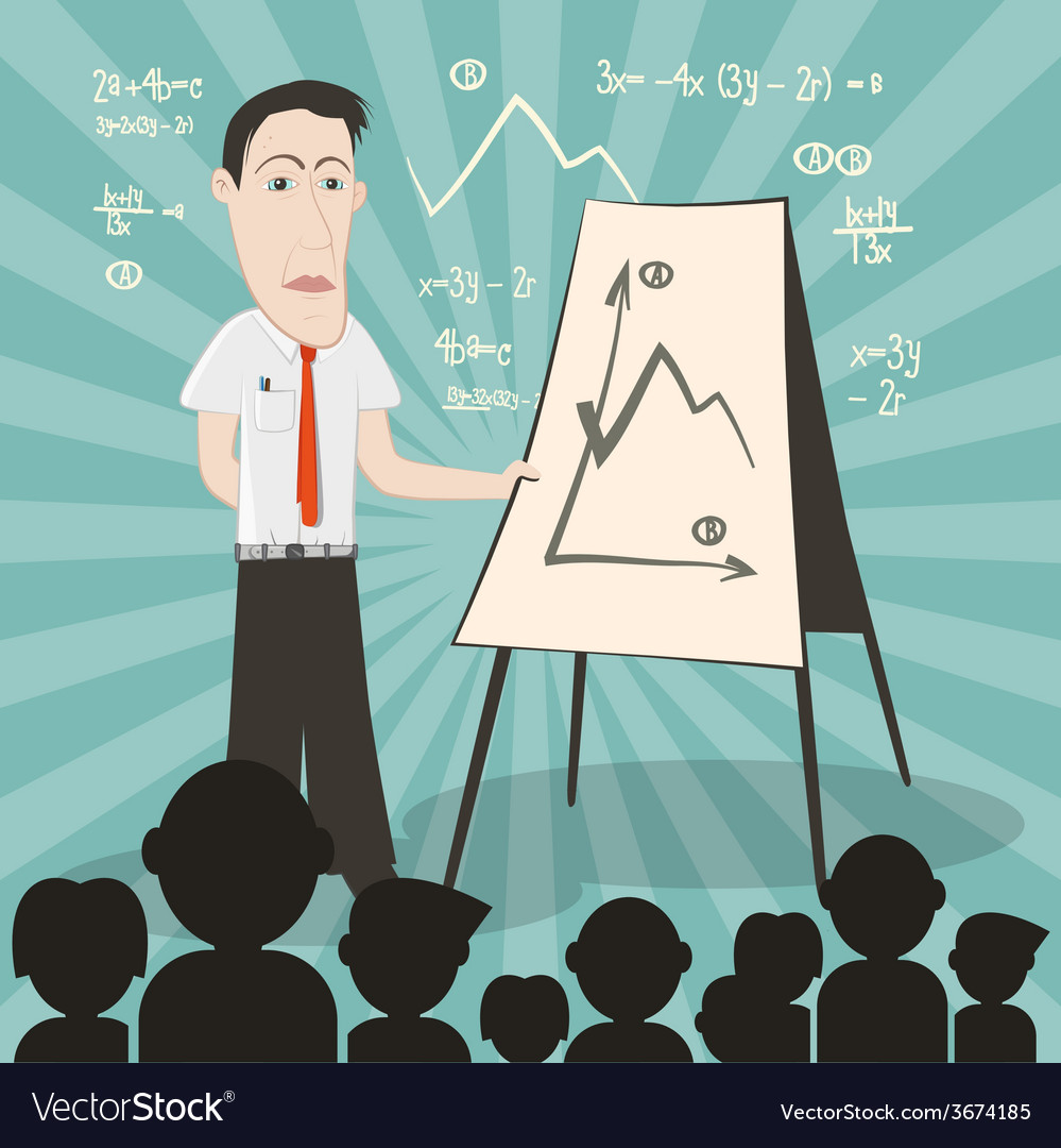 Businessman on conference with audience vector | Price: 1 Credit (USD $1)
