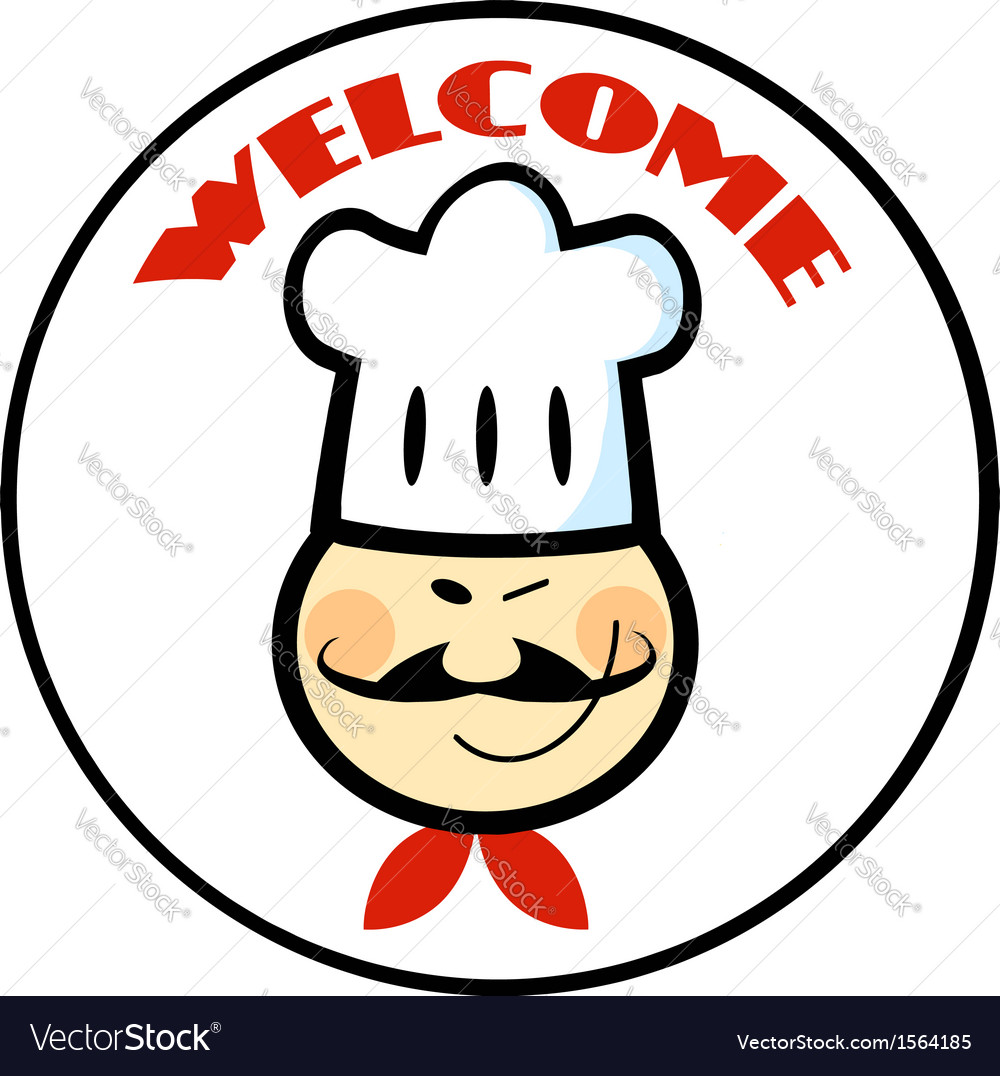 Cartoon chef logo vector   Price: 1 Credit (USD $1)