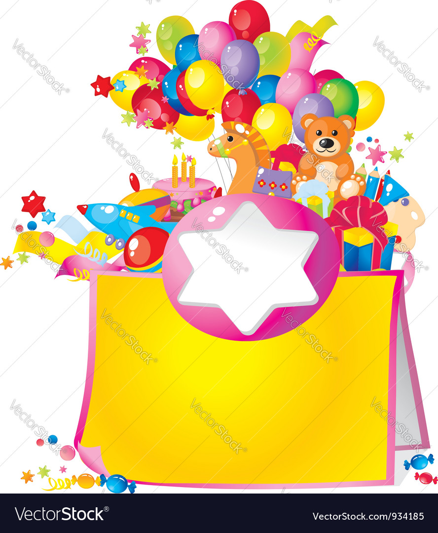 Childrens birthday vector | Price: 1 Credit (USD $1)