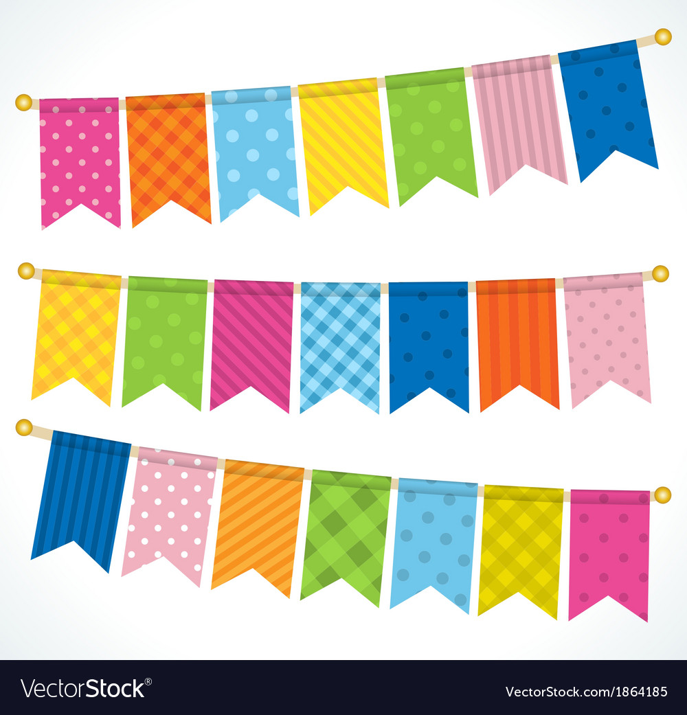 Color bunting flags vector | Price: 1 Credit (USD $1)