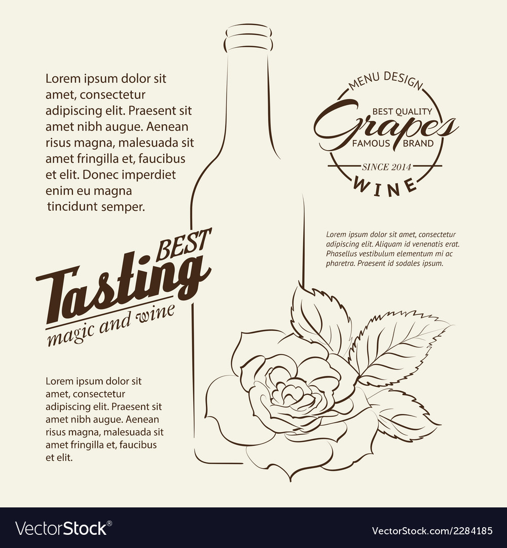 Handwritten wine tasting sign vector | Price: 1 Credit (USD $1)