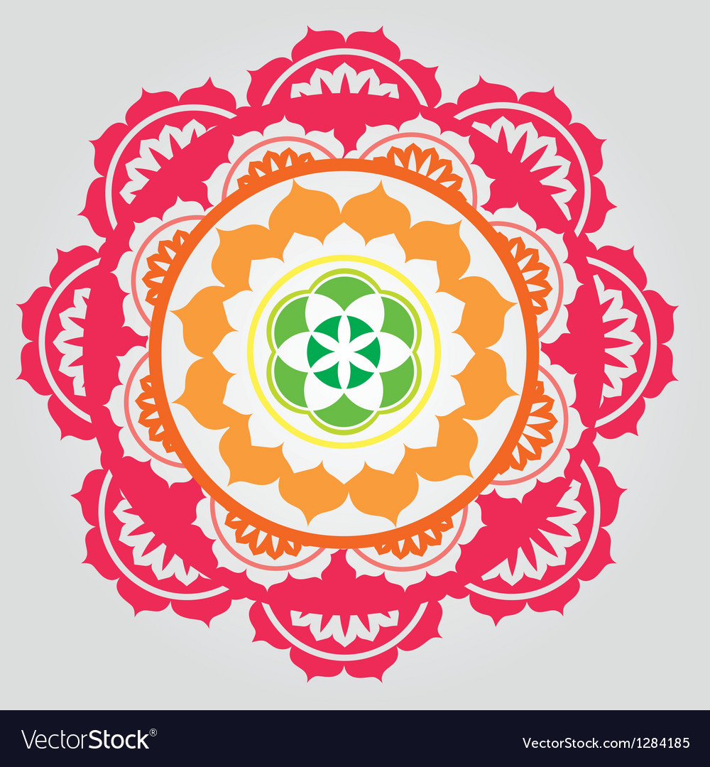 Lotus paradise mandala vector | Price: 1 Credit (USD $1)