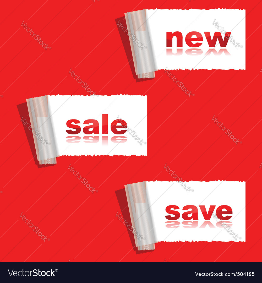 New save sale stickers vector | Price: 1 Credit (USD $1)