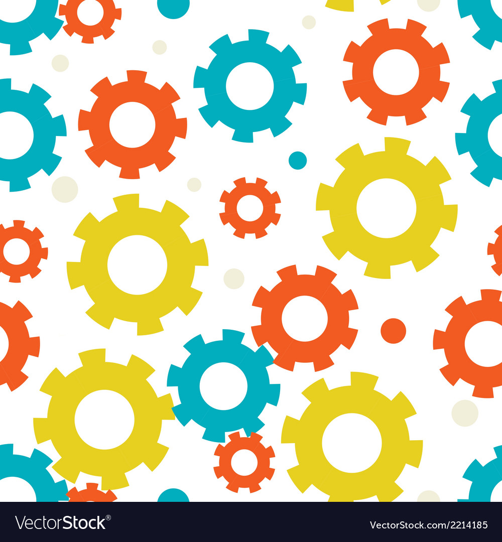 Seampless background with gears vector | Price: 1 Credit (USD $1)