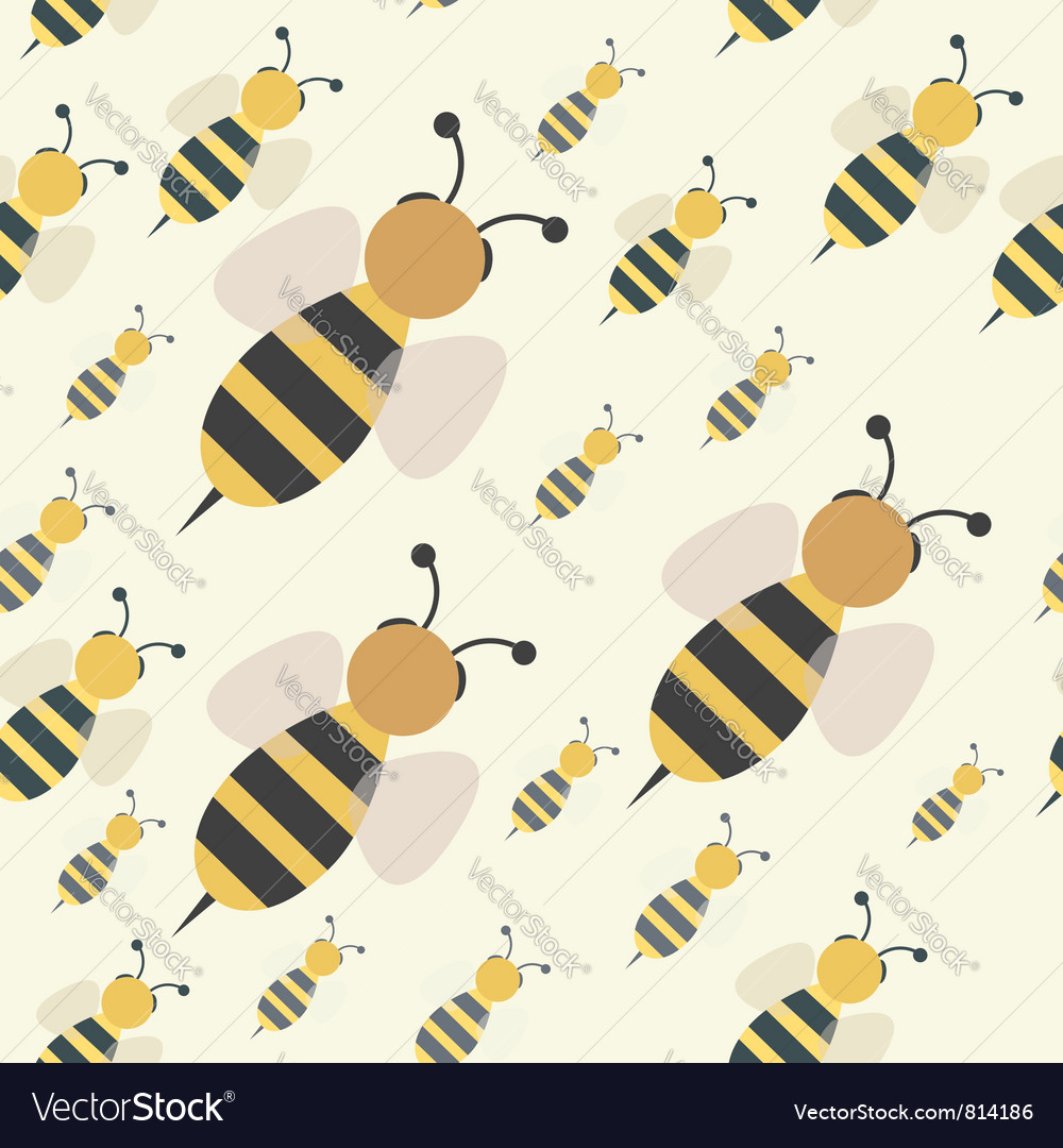 Abstract bee swarm vector
