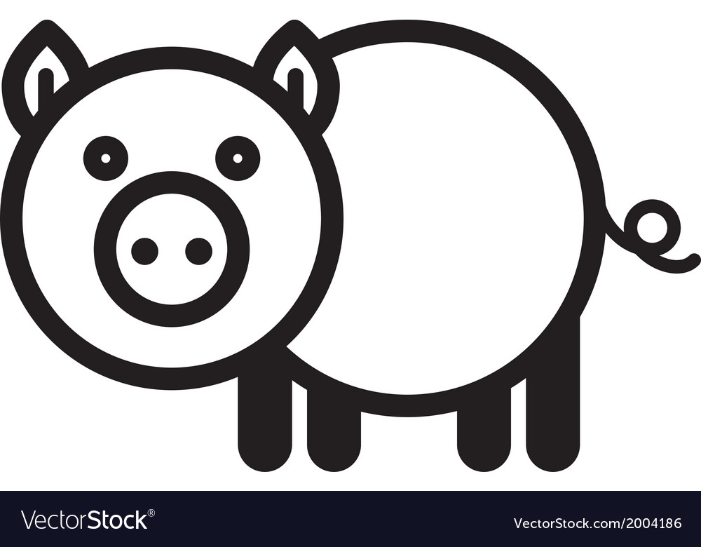 Cute animal pig - vector | Price: 1 Credit (USD $1)