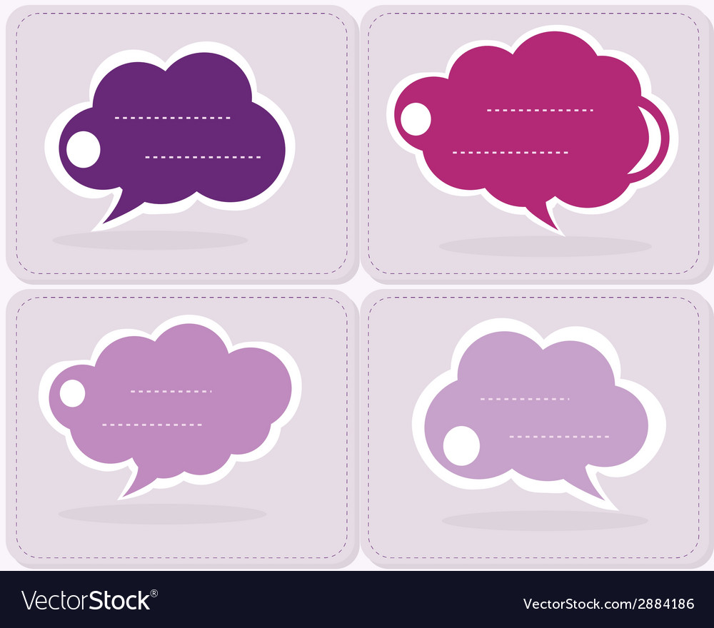 Group of communication speech clouds vector | Price: 1 Credit (USD $1)