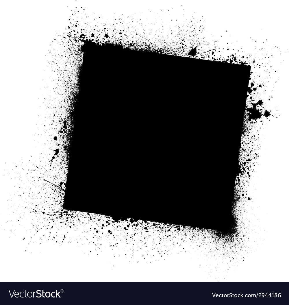 Grunge black frame vector | Price: 1 Credit (USD $1)
