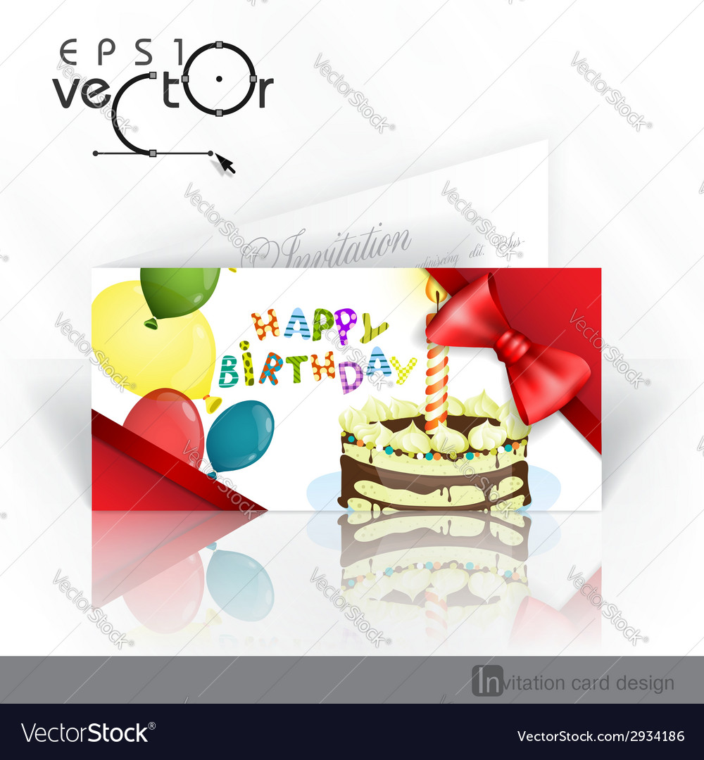Invitation card design template vector | Price: 1 Credit (USD $1)
