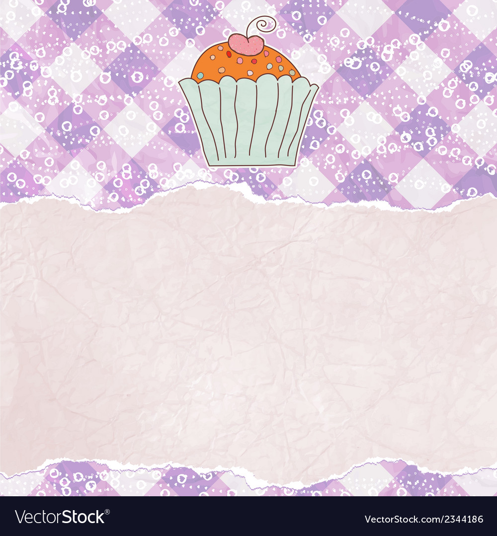Retro card with cupcake eps 8 vector | Price: 1 Credit (USD $1)