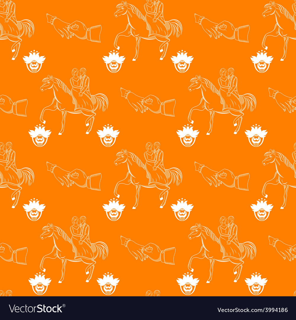 Seamless wedding pattern vector | Price: 1 Credit (USD $1)