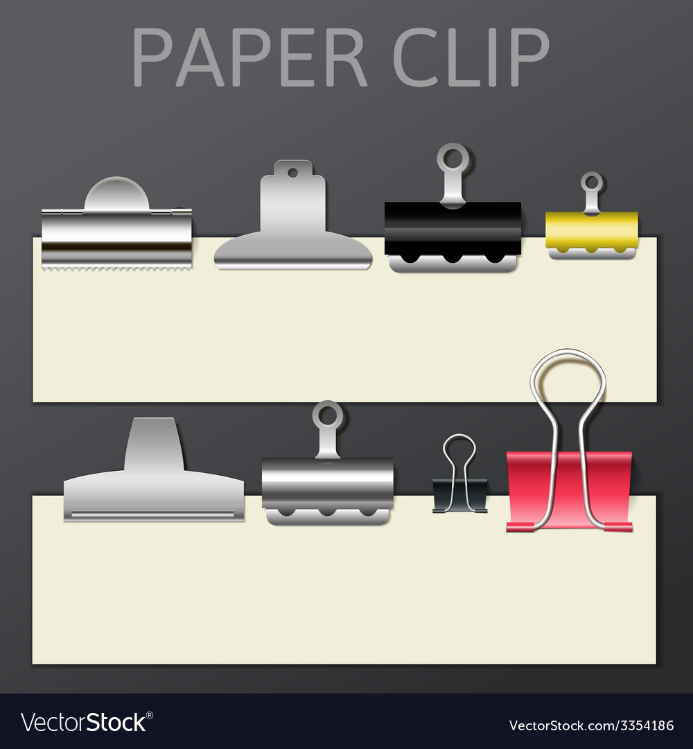 Set of different paper clips for your design vector | Price: 1 Credit (USD $1)