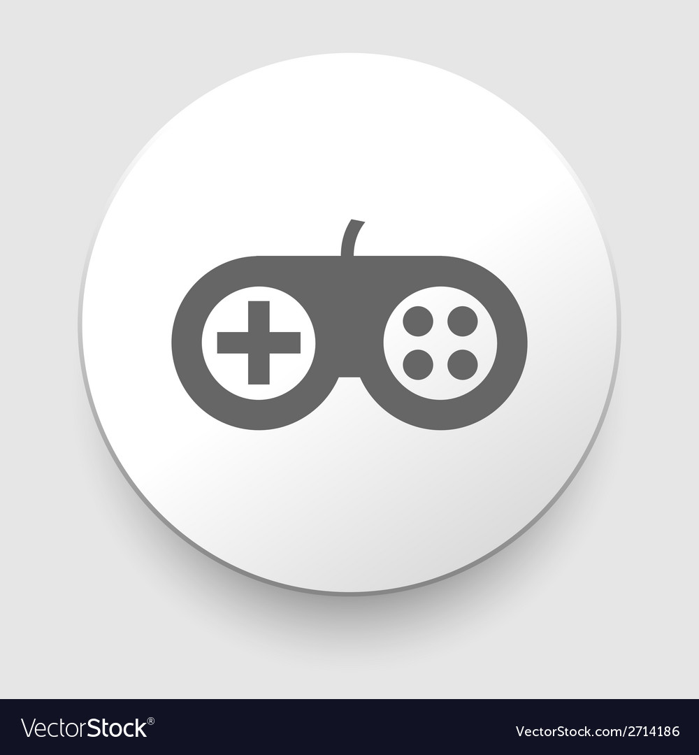 White circle icon gamepad vector | Price: 1 Credit (USD $1)