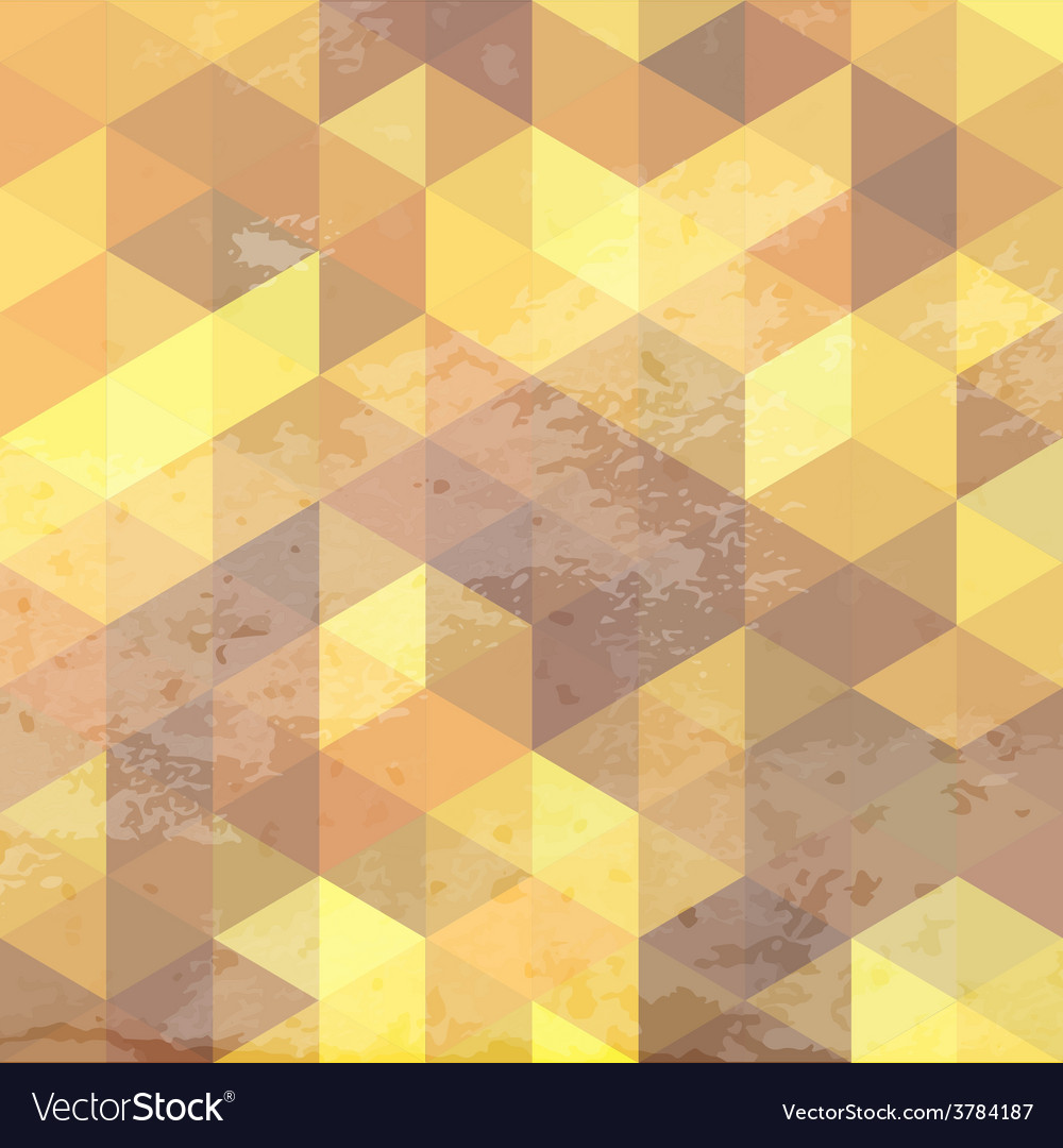 Geometric background with grunge texture vector | Price: 1 Credit (USD $1)