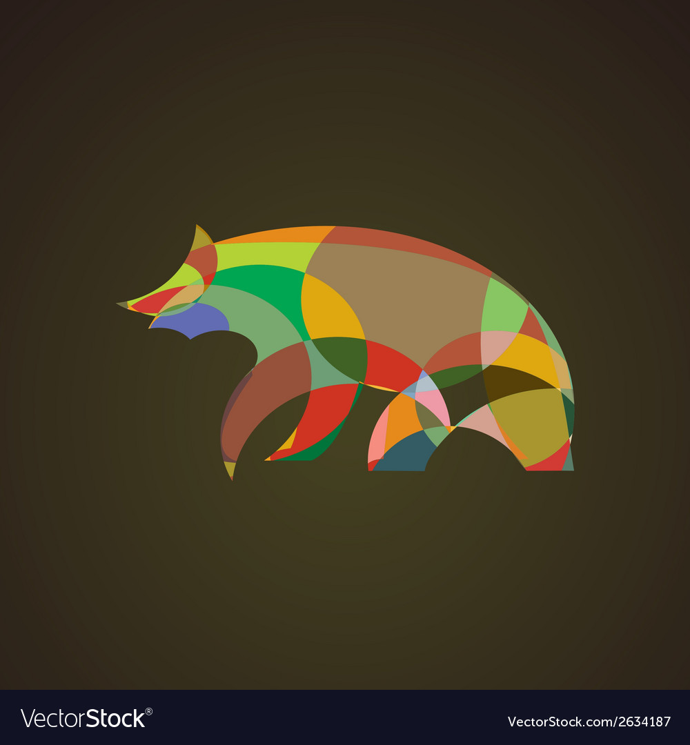 Image of an bear design vector | Price: 1 Credit (USD $1)