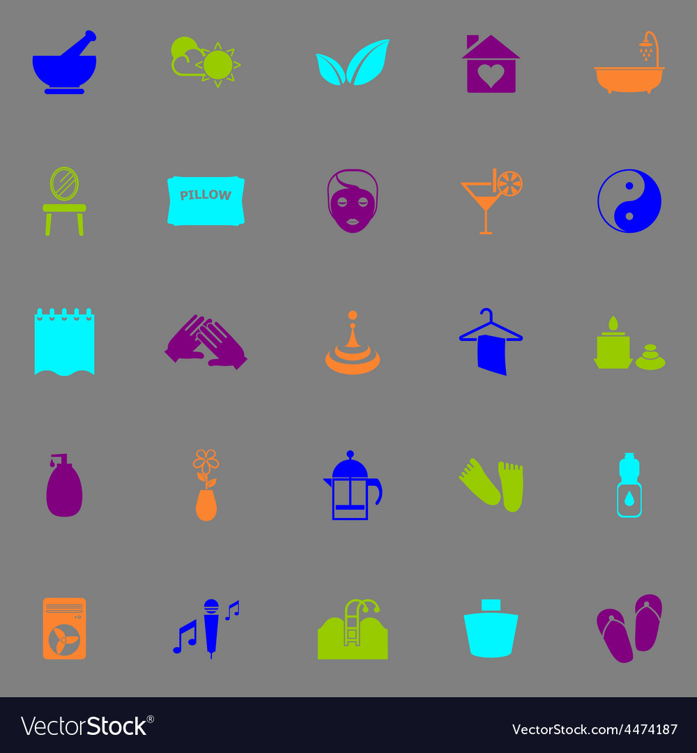 Massage fluorescent color icons vector | Price: 1 Credit (USD $1)