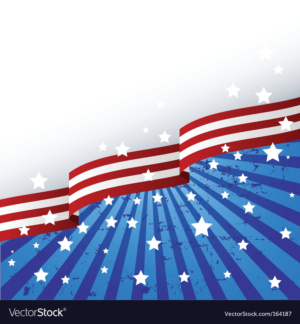 Usa flag theme vector | Price: 1 Credit (USD $1)