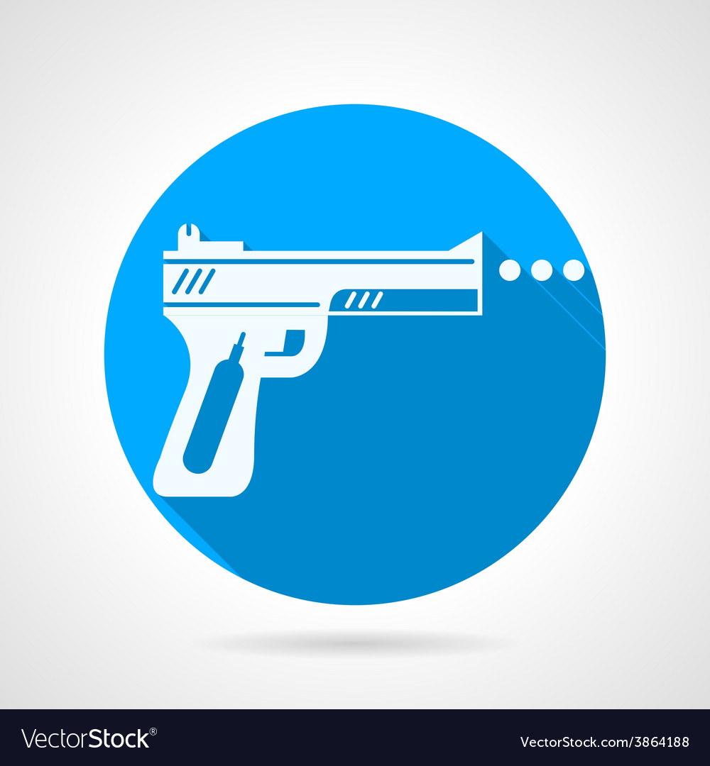 Flat icon for airgun vector | Price: 1 Credit (USD $1)