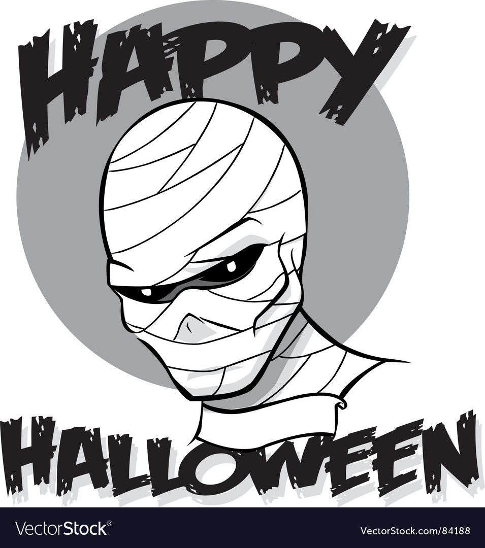 Halloween mummy vector | Price: 1 Credit (USD $1)