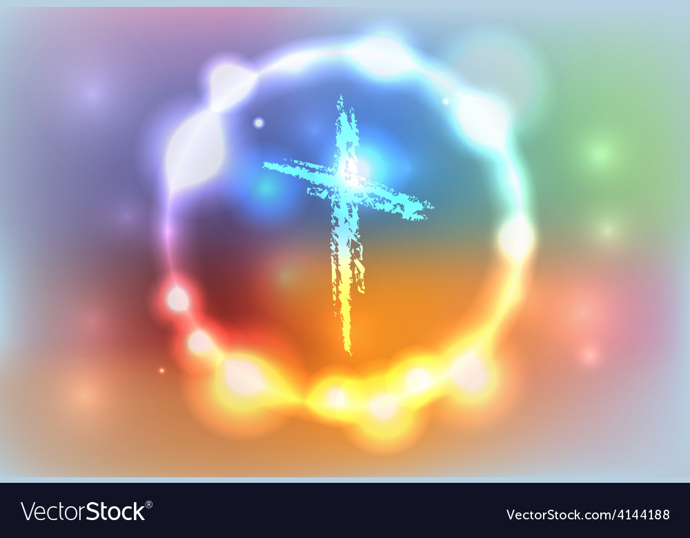 Heaven glow cross vector | Price: 1 Credit (USD $1)