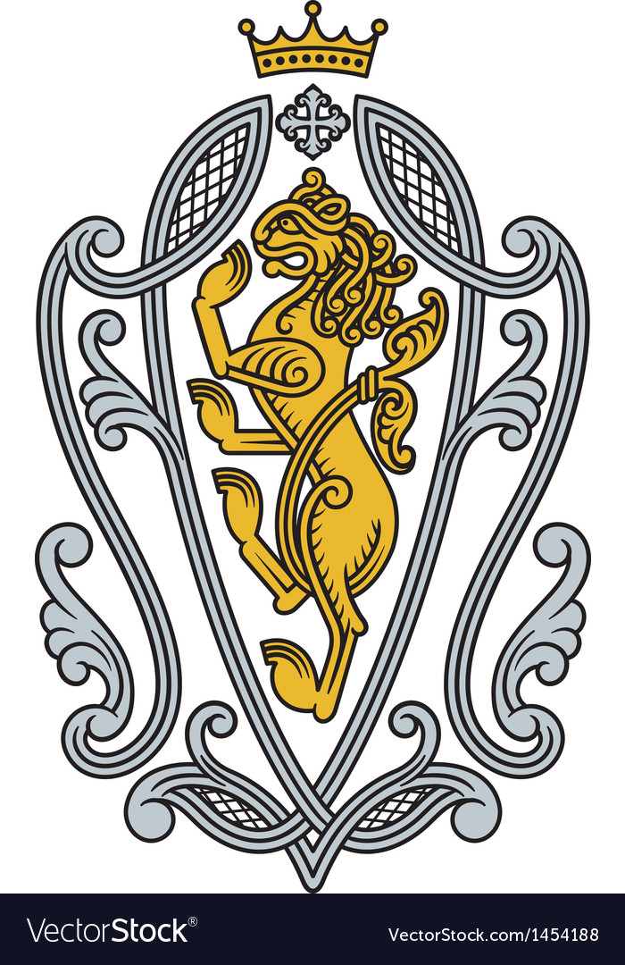 Heraldic royal lion vector | Price: 1 Credit (USD $1)