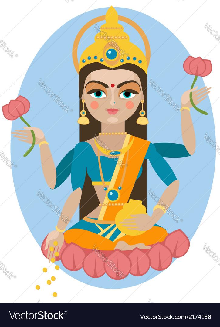 Lakshmi deity vector | Price: 1 Credit (USD $1)