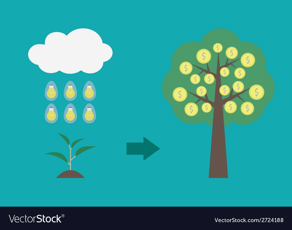 Moneytree vector | Price: 1 Credit (USD $1)
