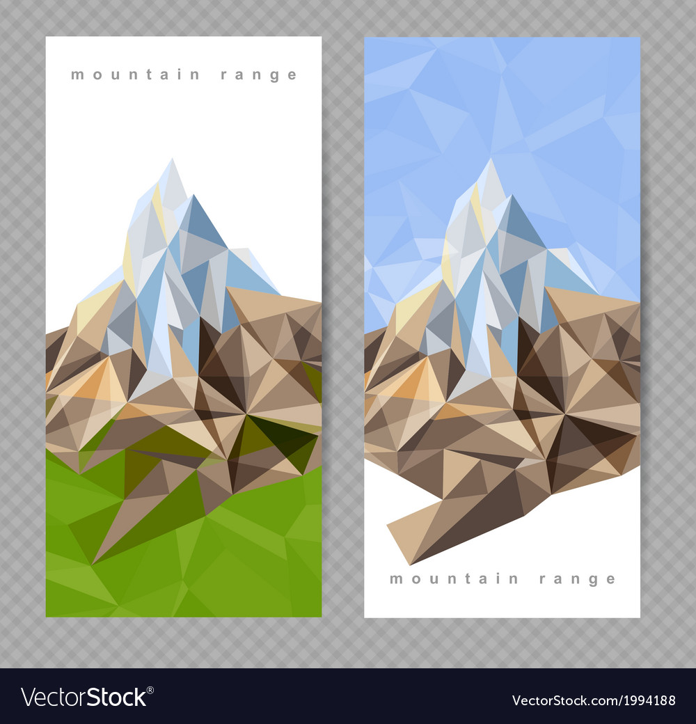Mountains banners vector | Price: 1 Credit (USD $1)