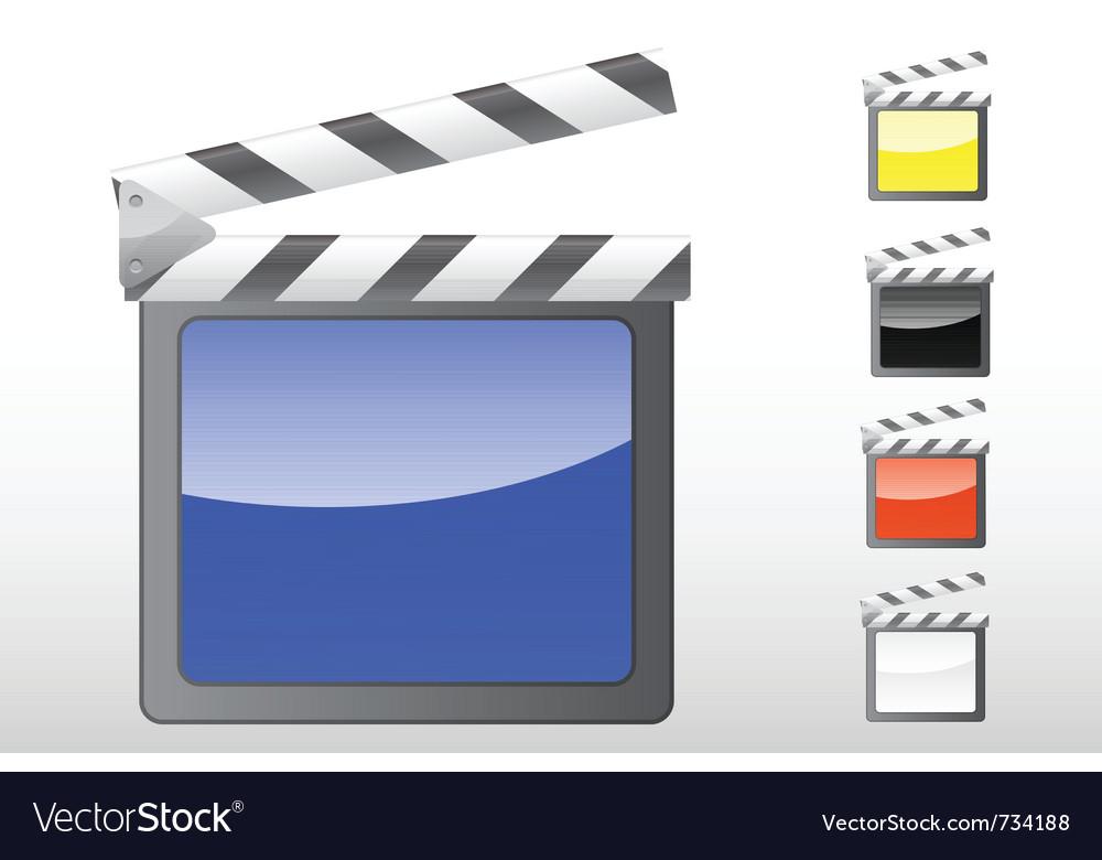 Movie clapper icon vector | Price: 1 Credit (USD $1)