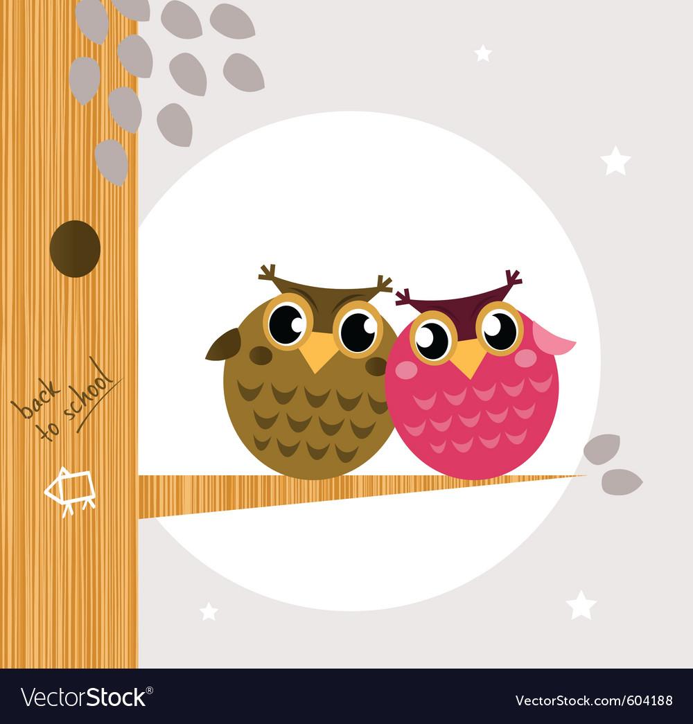 Owl friends vector | Price: 1 Credit (USD $1)