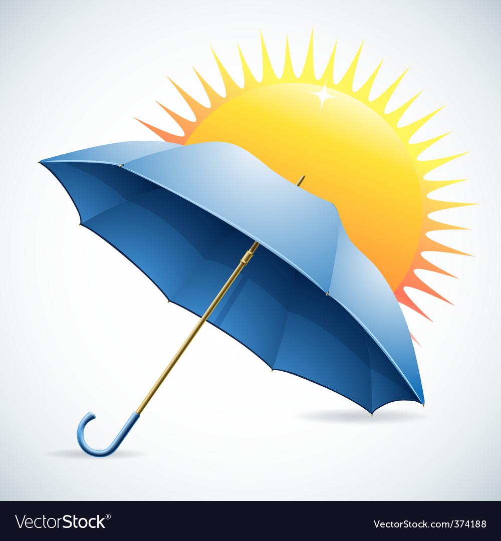 Umbrella and the sun vector | Price: 1 Credit (USD $1)